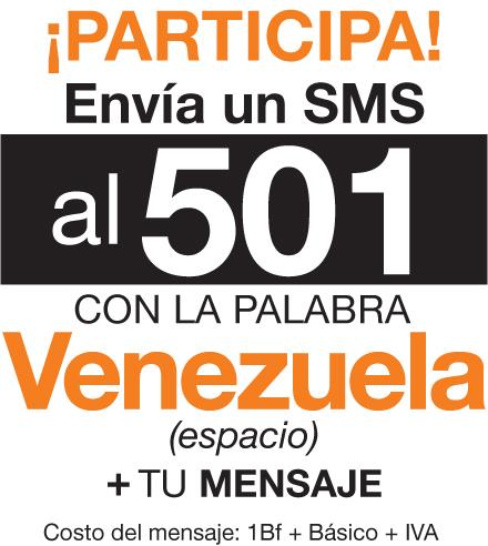 ¡Envía SMS a 501 para participar!