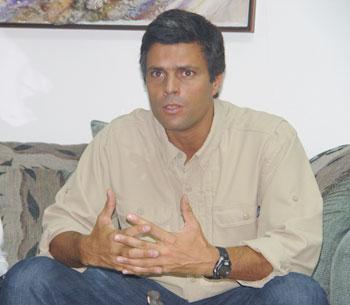Leopoldo López :: Nueva Prensa de Guayana. Foto: Guillermo Mora