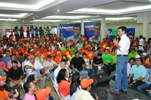 Leopoldo López en Anzóategui