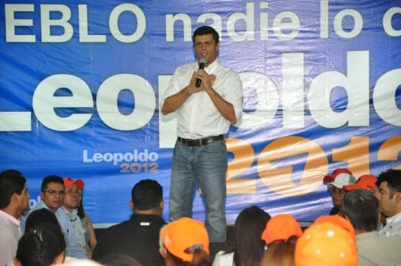 Leopoldo López en Barcelona
