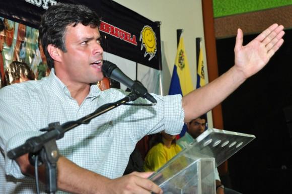 """Leopoldo López en la presentación de su proyecto económico """"Hecho en Venezuela"""" en Acarigua"""