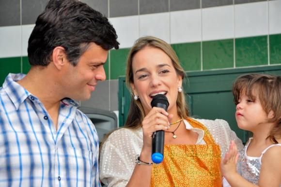 Leopoldo López y Lilian Tintori