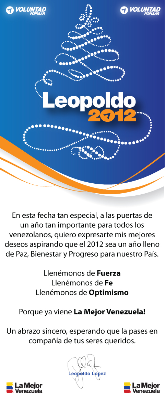 Saludo navideño de Leopoldo López