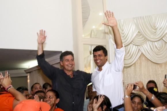 Leopoldo López  junto al Gobernador de Carabobo, Henrique Salas Feo, en el Consejo Nacional de Proyecto Venezuela en Cagua, estado Aragua