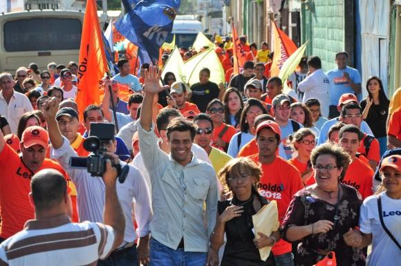 Leopoldo López en su recorrido en tierras falconianas