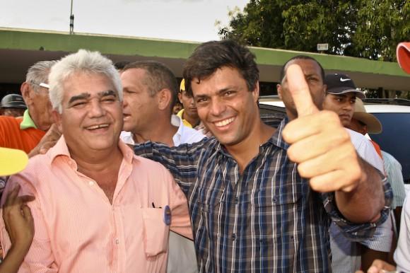 Leopoldo López junto José Manuel González, candidato a la Gobernación de Guárico