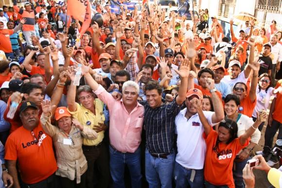 Leopoldo López recorriendo las calles de Valle de la Pascua, estado Guárico