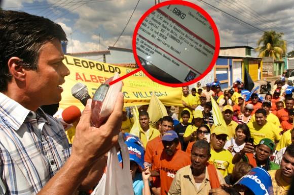 Leopoldo López corroborando que la carne que consumimos en Venezuela procede de Nicaragua, Brasil o Argentina