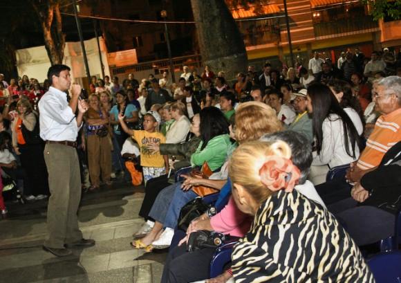 Leopoldo López en la Asamblea de Chacao