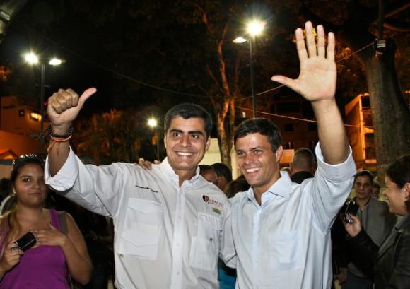 Leopoldo López junto al Precandidato para la alcaldía de Chacao, Emilo Graterón