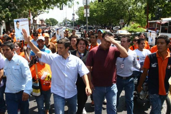 Leopoldo López junto a Jesús Guillermo Gómez, candidato a la alcaldía de Torres en Carora, estado Lara