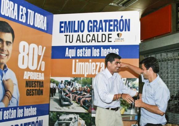 eopoldo López respaldando la gestión de Emilio Graterón, actual alcalde de Chacao