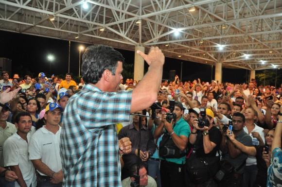 Leopoldo López en la Asamblea de Cantaura