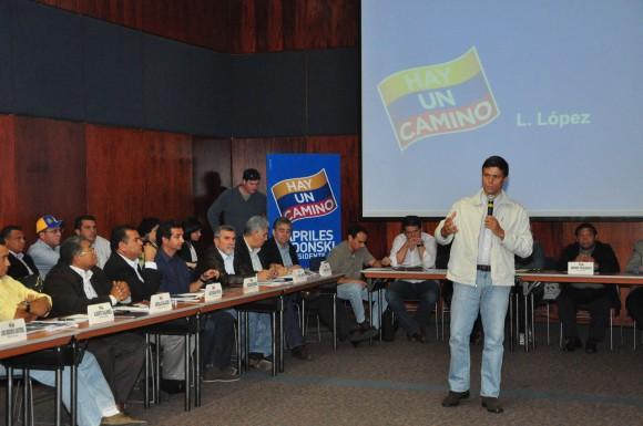 Leopoldo López en la Instalación del Comando Tricolor Nacional