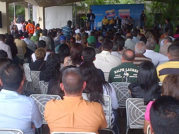 Leopoldo López en la instalación del Comando Tricolor Trujillo