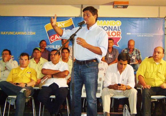 Leopoldo López en la instalación del Comando Tricolor Barinas