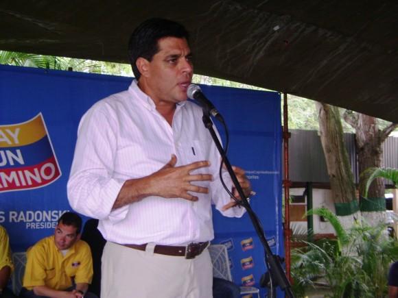 Oscar López, adjunto a la coordinación nacional del Comando Tricolor en la instalación del Comando en Trujillo